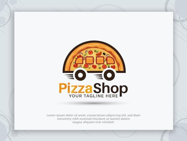Disegno del logo vettoriale della casa della pizza