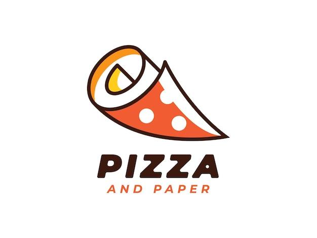 Concetto di design del logo della pizza