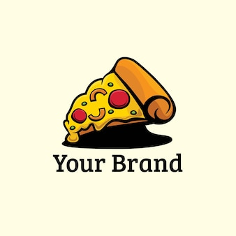 Illustratore di design del logo della pizza