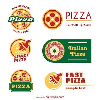 Modelli di pizza logo