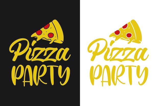 Grafica di design di citazioni di pizza party