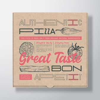 Contenitore di scatola di cartone realistico per pizza