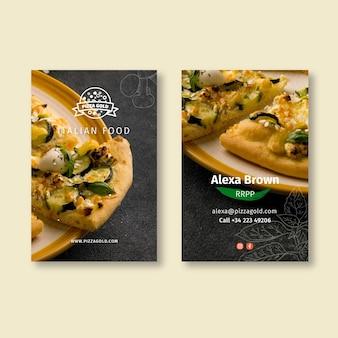Biglietto da visita bifacciale per ristorante pizzeria