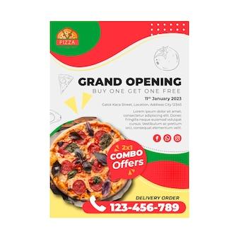 Modello di volantino ristorante pizzeria