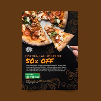 Volantino ristorante pizzeria verticale