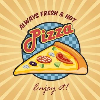 Pizza fetta pubblicità poster