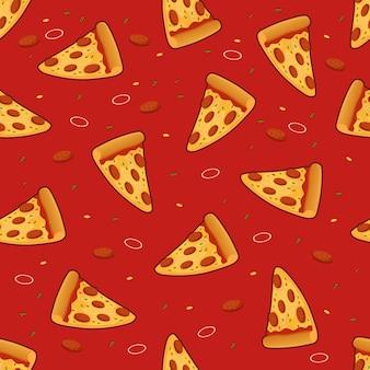 Modello senza cuciture di fetta di pizza