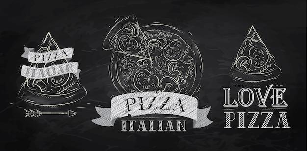 Gesso simbolo pizza
