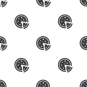 Pizza, reticolo senza giunte di vettore, modificabile può essere utilizzato per sfondi di pagine web, riempimenti a motivo