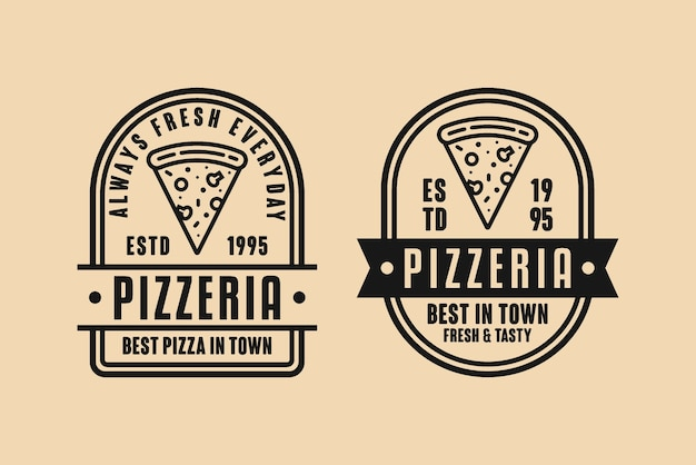 Logo vintage design pizzeria