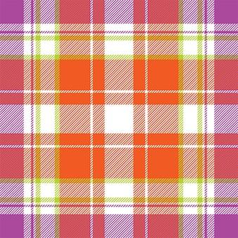 Motivo scozzese senza cuciture. controlla la trama del tessuto. sfondo quadrato a righe. disegno di tartan tessile vettoriale.