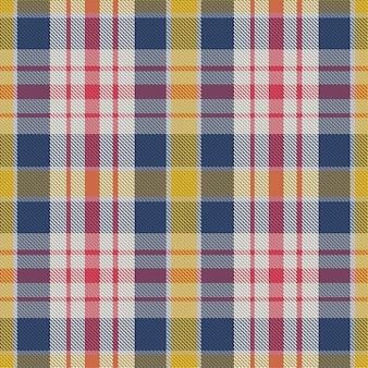 Motivo scozzese senza cuciture. controlla la trama del tessuto. sfondo quadrato a righe.