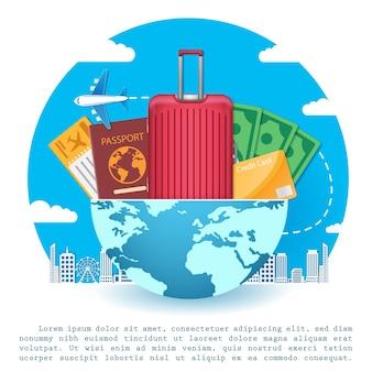Aereo e accessori viaggiano in tutto il mondo.