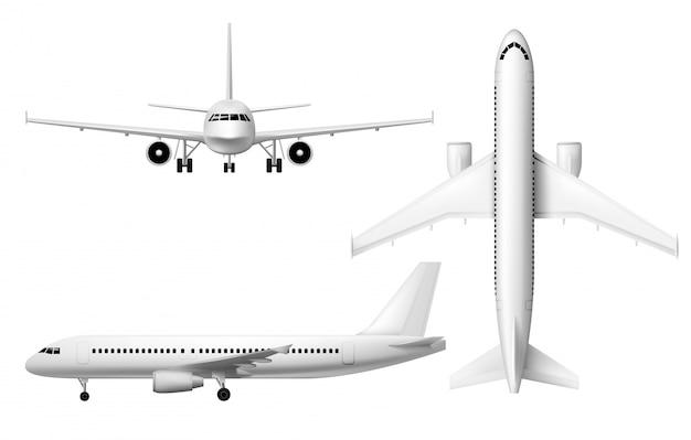 Aereo aereo, modello di aeroplano aereo realistico