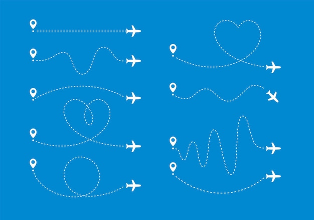 Il percorso aereo imposta l'aeroplano in volo lungo determinate linee curve da un vettore specifico del punto della mappa