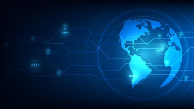 Priorità bassa astratta futuristica globale del pianeta terra