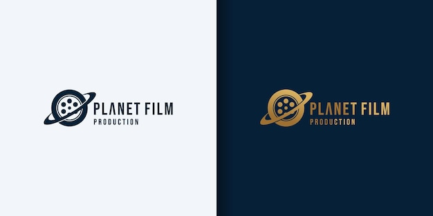 Design del logo del film del pianeta