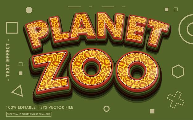 Stile effetto testo planet zoo