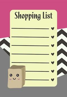 Modelli di pianificatore, organizzatore e pianificazione con note e fare liste.