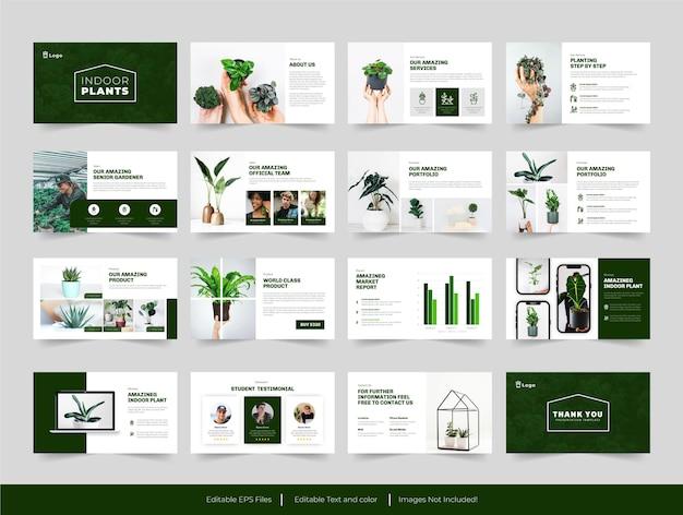 Modello di presentazione di piante per interni o botanici