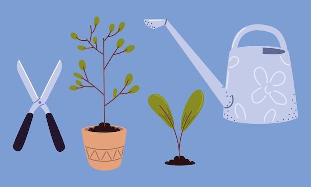 Set di strumenti per piantare