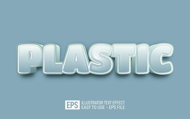 Modello di effetto di stile modificabile di testo 3d in plastica