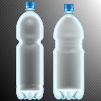 Bottiglie di plastica. trasparente.