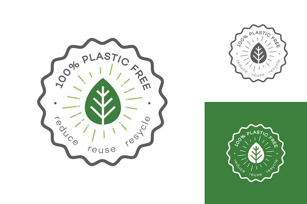 Set di etichette senza plastica