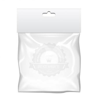 Borsa da tasca in plastica. modello trasparente. illustrazione