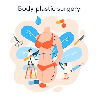 Illustrazione di concetto di chirurgo plastico