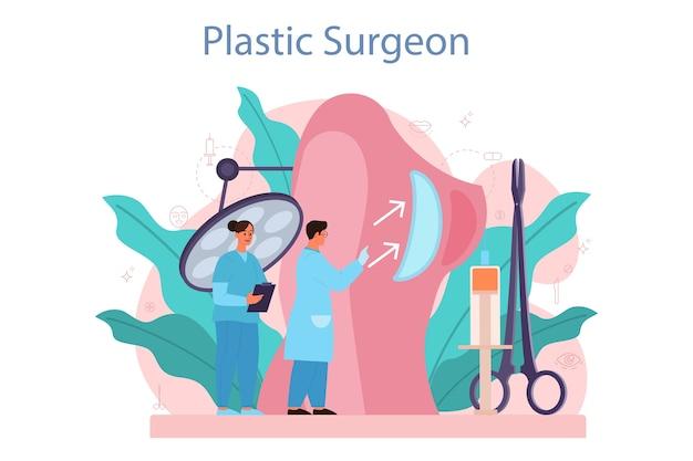 Concetto di chirurgo plastico