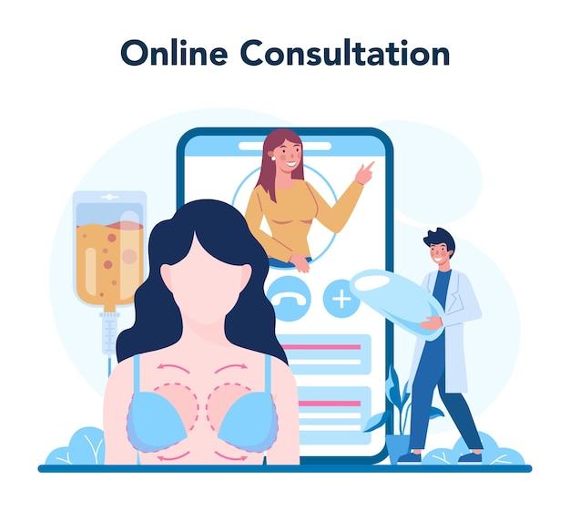 Servizio o piattaforma online di chirurgo plastico