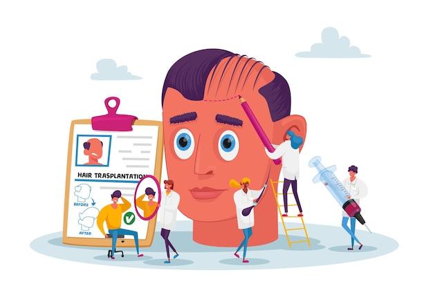 Chirurgia plastica, capelli sfuggenti, problema di perdita