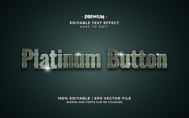 Effetto di testo in stile lusso platino Vettore Premium