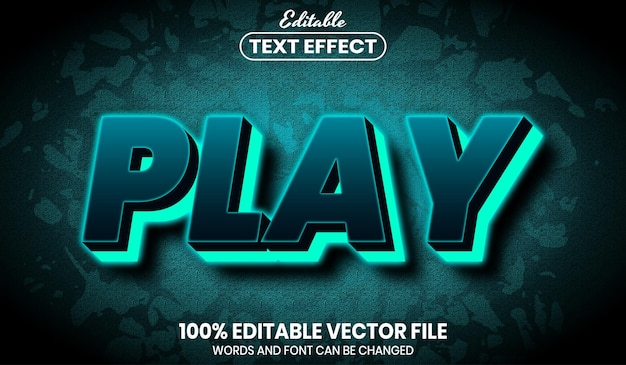 Riproduci testo al neon, effetto testo modificabile in stile carattere