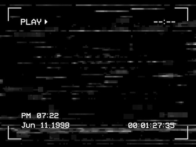 Riproduci rumore e glitch sullo sfondo dello schermo tv