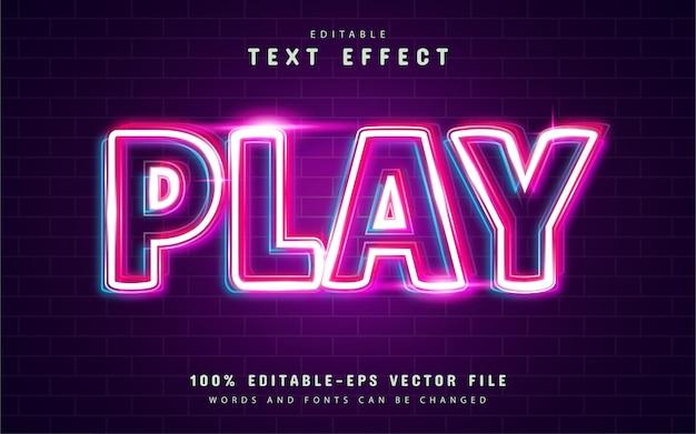 Riproduci l'effetto di testo con contorno lucido