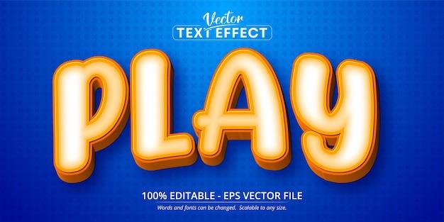 Riproduci testo, effetto di testo modificabile in stile cartone animato