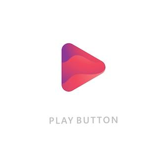 Gioca icona logo vettoriale. modello di progettazione dell'icona del video. lettore musicale