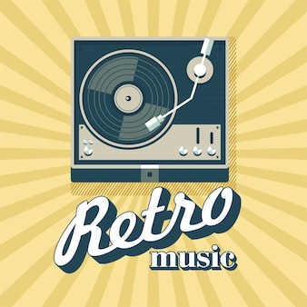 Lettore per dischi in vinile. logo, emblema.