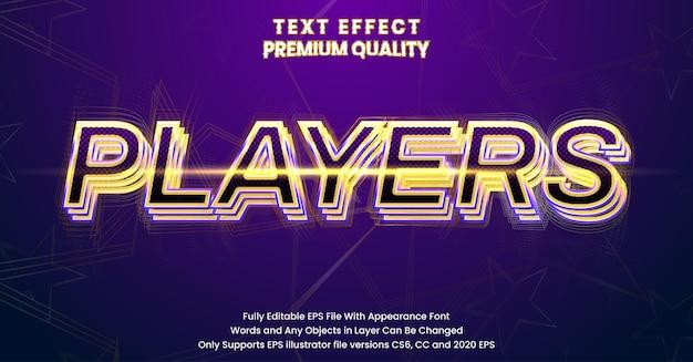 Giocatori modificabili effetto carattere