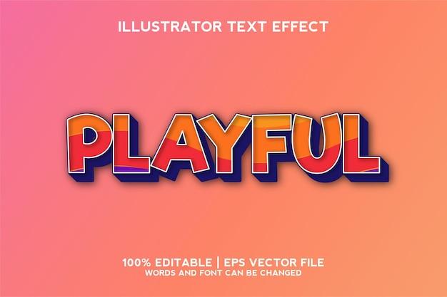 Modello di effetto testo 3d giocoso