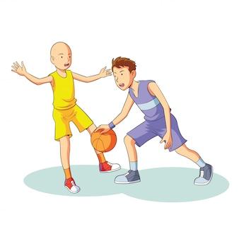 Giocare a basket insieme