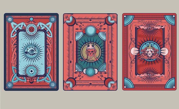 Illustrazione della parte posteriore della carta da gioco
