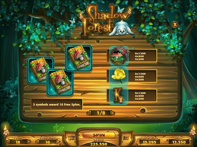 Gioco di slot da campo per l'interfaccia utente del gioco.