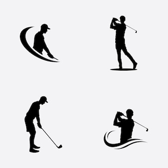 Giocare a golf posa simbolo illustrazione vettoriale