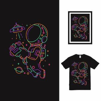 Giocare a ufo t shirt design