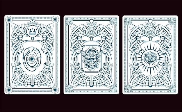 Illustrazione della parte posteriore della carta di playng