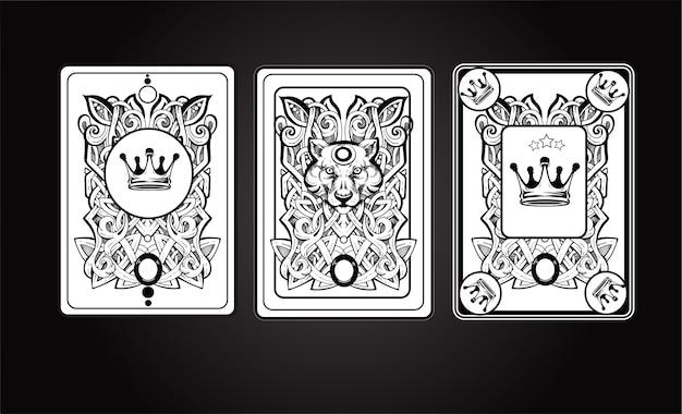 Insieme dell'illustrazione della carta di playng