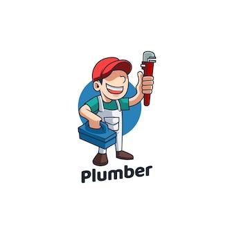 Pipa di cartone animato idraulico maestro maestro